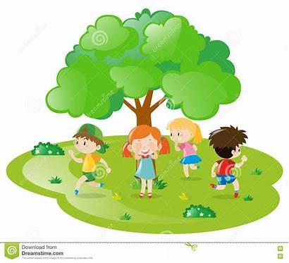 Spielen Verstecken Kinder Enfants Giocano Nascondino Che