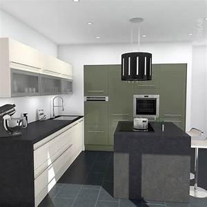 Model meuble pour salon 6 cuisine vert et ivoire for Model meuble pour salon