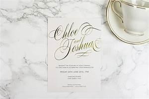 script invitation the foil invite company With foil stamped wedding invitations uk