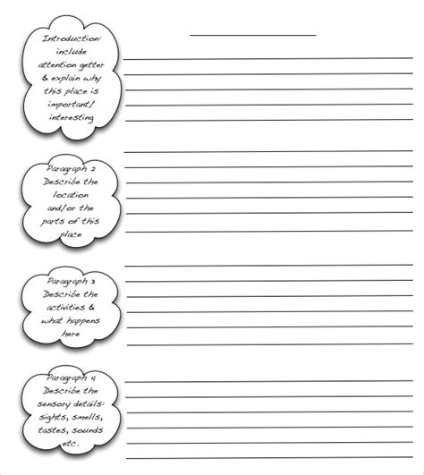 template for writing 5 free essay outline templates word excel pdf formats