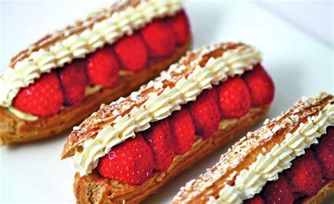 ecole de cuisine bocuse éclairs aux fraises par l 39 école de cuisine alain ducasse