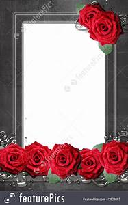 Free Templates For Business Templates Frame With Roses Stock Illustration I2828883