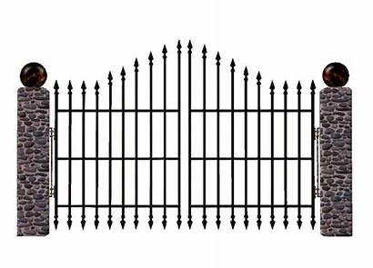 Gate Clipart Cemetery Iron Entrance Fence Graveyard