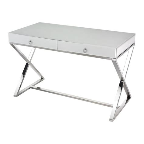 white and glass desk lazy susan white glass desk