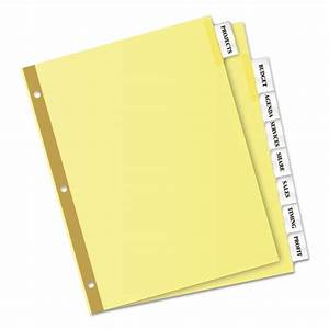 insertable big tab dividers 8 tab letter With letter tab dividers