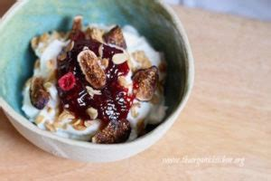 homemade greek yogurt  seasonal fruit  jam