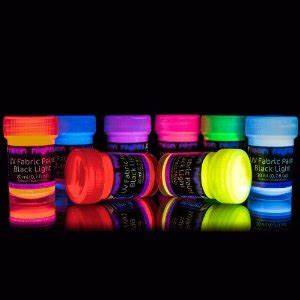 8 x UV Black Light Fabric Paint Washable Textile Paint Dye