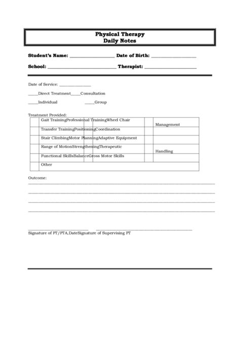 therapy notes top physical therapy progress note templates free to in pdf format