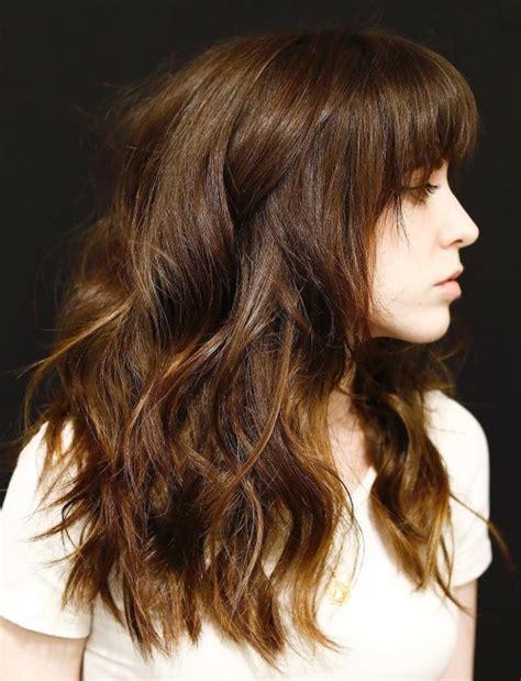 50 cute long layered haircuts with bangs 2019