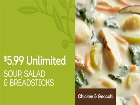 olive garden unlimited soup olive garden unlimited soup salad and breadsticks 5 99
