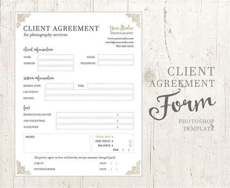 client agreement form  photographers