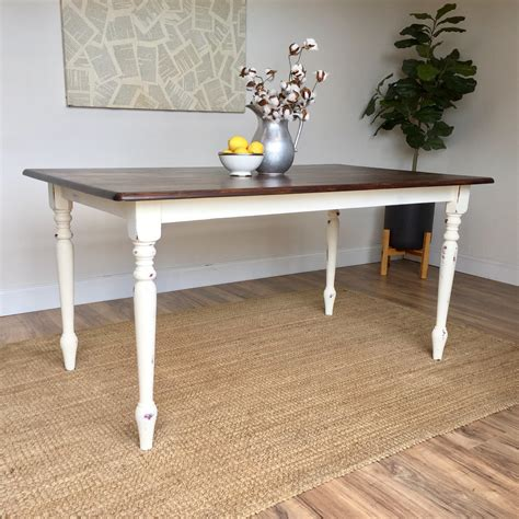white country kitchen table distressed kitchen table small white dining table 1284