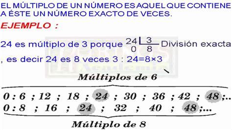 Qué Son Los Múltiplos De Un Número