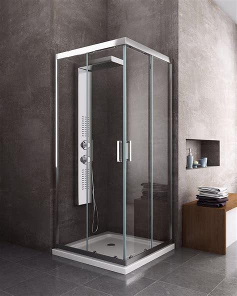 cabina doccia 90x90 box cabina doccia scorrevole quadrato 6 mm cromo