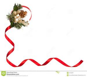 Red Christmas Ribbon Borders and Frames