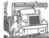 Truck Coloring Realistic Dump Trucks Drawing Semi Kidsplaycolor Children Wood Play Toy Tow Colors Printable sketch template