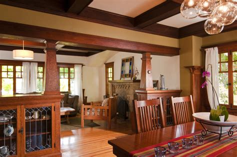 Craftsman Style Dining Room Chandeliers by Bali Construction Craftsman Dining Room San