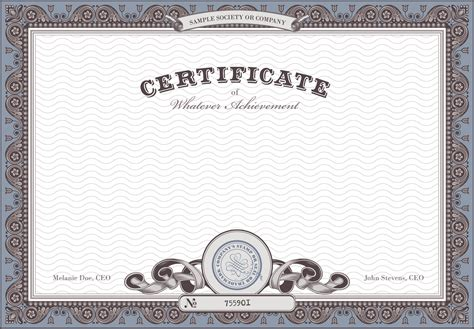 certificate background material pattern honor certificate