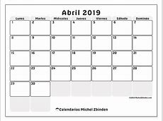 Calendario abril 2019 44LD Michel Zbinden es