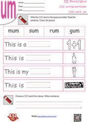 cvc writing worksheets cvc worksheets phonics