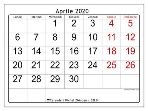 calendari aprile ld michel zbinden