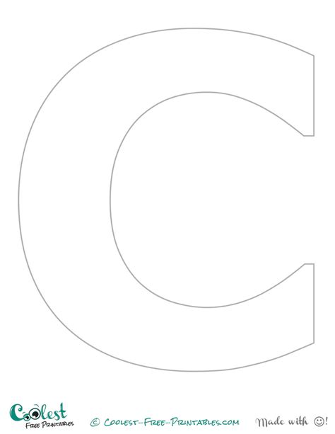 Large Letter C Template by 5 Best Images Of Free Printable Alphabet Templates Letter