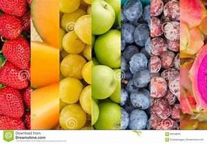 Rainbow Fruits And Vegetables Collage Stock Photo - Image ...