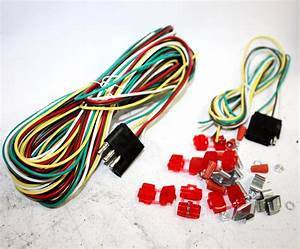 25ft 4 Way Trailer Wiring Connection Kit Flat Wire