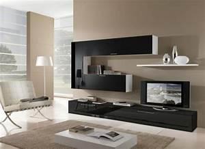 Meuble Moderne Salon : am nagement de salon meubles modernes 24 id es sympas ~ Teatrodelosmanantiales.com Idées de Décoration