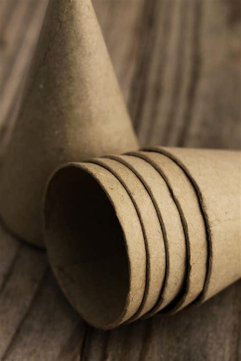 small paper mache cones
