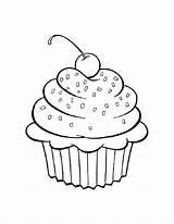 Coloring Desserts Dessert sketch template