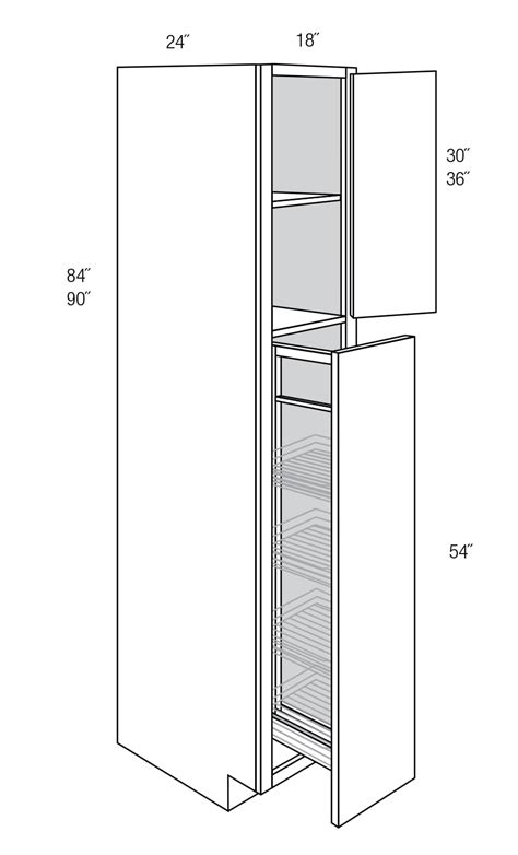 WP1890PO Tall Cabinets: Pantry Cabinet: Quincy Brown RTA