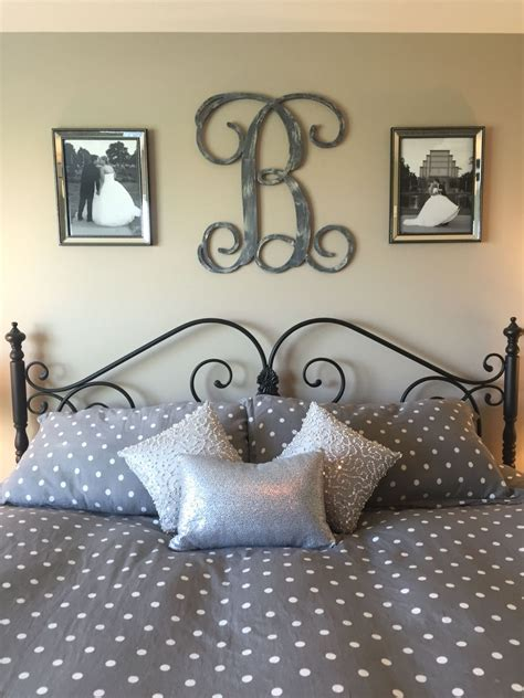 Bedroom Decorating Ideas Picture Frames by Idea For Above The Bed In Master Bedroom Monogram And