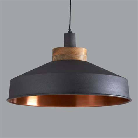 kitchen island with breakfast bar cosmos graphite and copper pendant light by horsfall