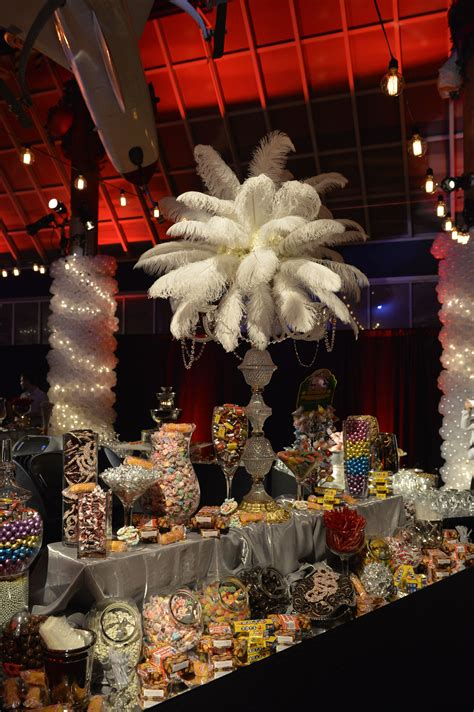 Feathered Centerpieces Great Gatsby Theme Events