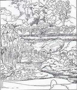 Jardin Dessin Couleur : coloriage jardin japonais a imprimer gratuit picture ~ Melissatoandfro.com Idées de Décoration