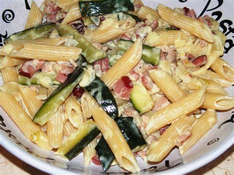 recette avec lardons et pates p 226 tes aux courgettes et lardons les recettes de virginie