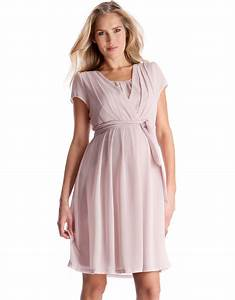 robe grossesse et allaitement plissee rose poudre seraphine With robe pour allaitement