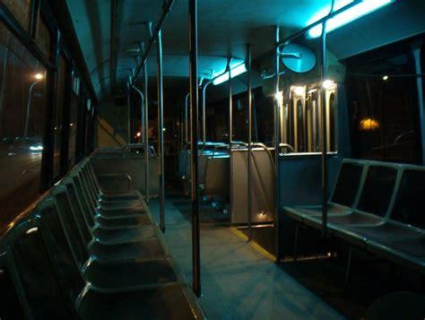 empty bus  night    late  night