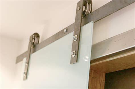 Barn Door Hardware With Glass Sliding Door