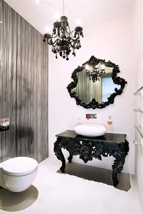 Black And White Chandelier Bedding black and white chandelier bedding powder room