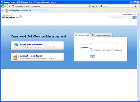 Web Based Active Directory Management With Self Service