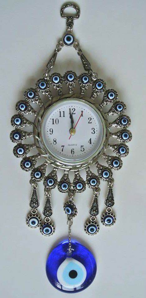 Large 3d decorative wall clock. Details about Turkish Nazar Glass Evil Eye Wall Clock ...
