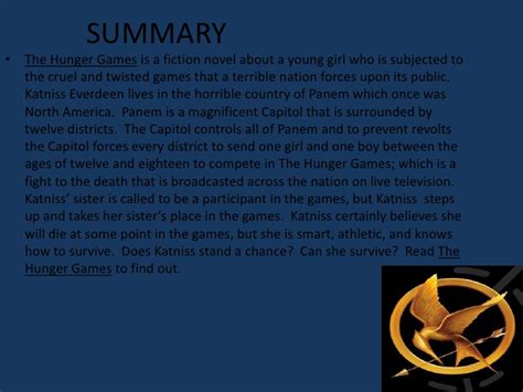 The Hunger Synopsis by Nolan O Rear The Hunger