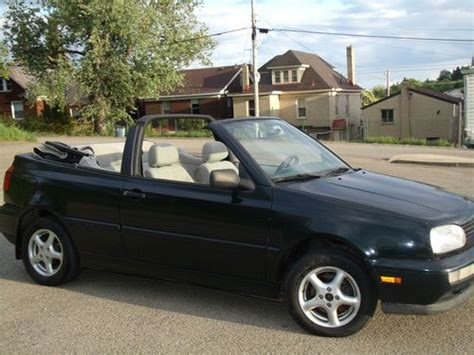 volkswagen convertible cabrio sell used 1999 volkswagen cabrio convertible runs great in