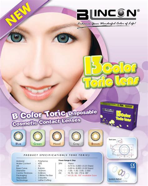 colored toric lenses blincon b toric colored toric lens for astigmatism comes