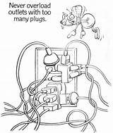 Coloring Electrician Safety Electrical Pages Getcolorings sketch template