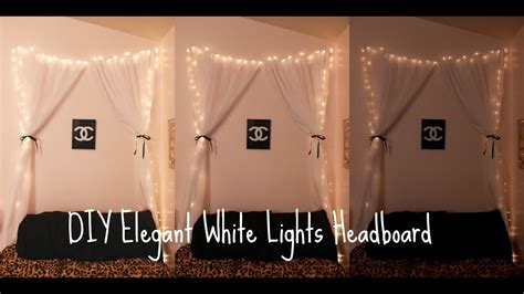 Diy Elegant White Lights Headboard Youtube