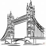 London Coloring Bridge Pages Tower Printable Getcolorings Lond Getdrawings sketch template
