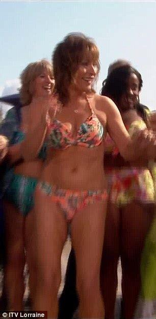 grace mugabe sexy lorraine kelly strips down to her bikini and dances live